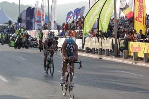 Ironman Nice cykling på promenaden